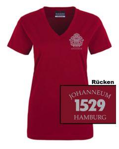T-Shirt - TAILLIERT GIRLS (XS-XL) - 100% Baumwolle (bordeaux)