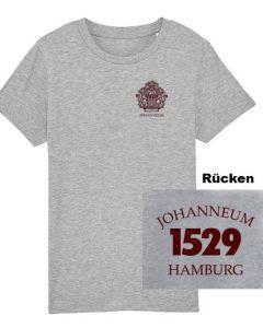 Kinder T-Shirt - 100% Baumwolle - Gr. 116 bis 152 - heathergrey